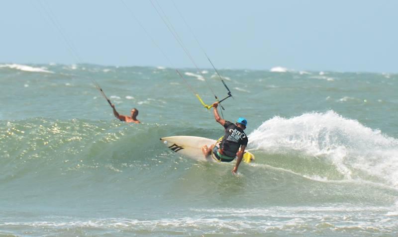 Kite Waves on the Wild Caribbean Sea